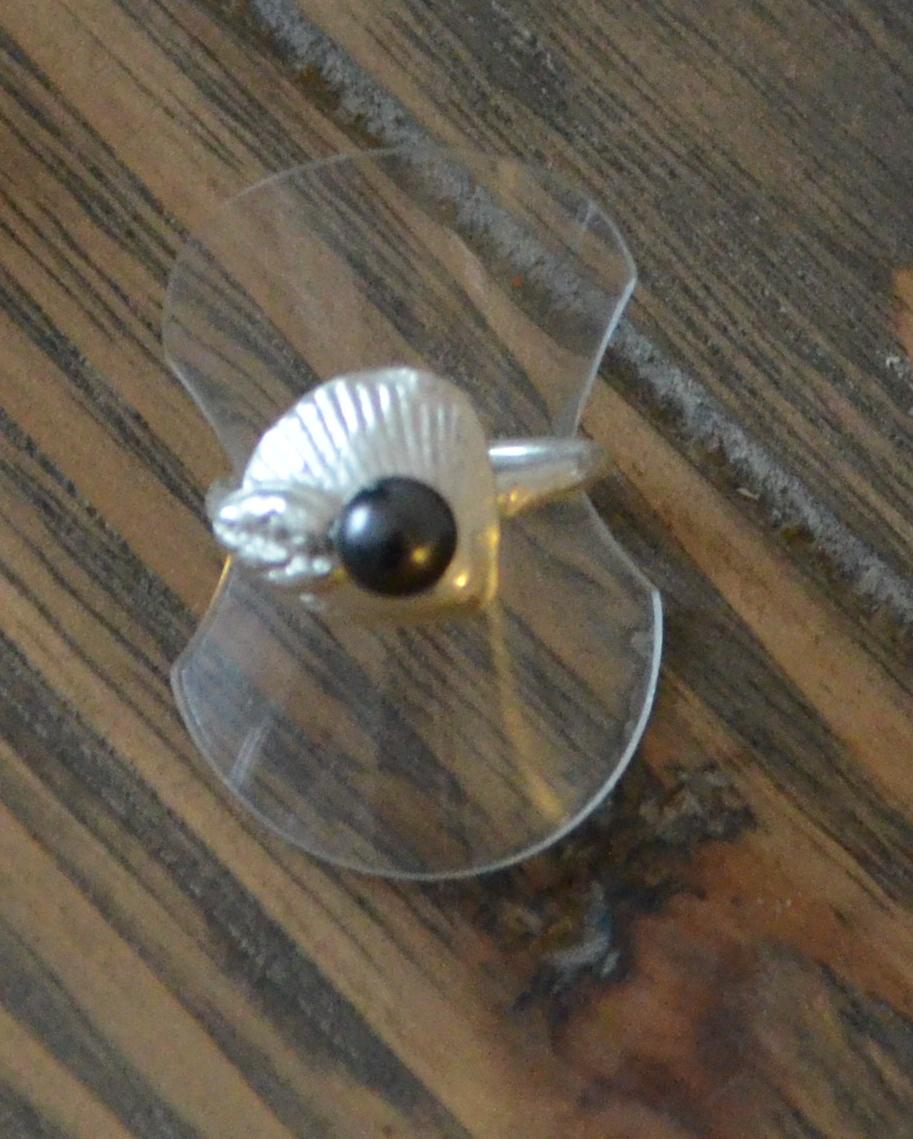 Bague avec perle pâte d`argent Certification ACS1 Art Clay France Niveau 1 BijouSchool Antibes Bérengère Silver