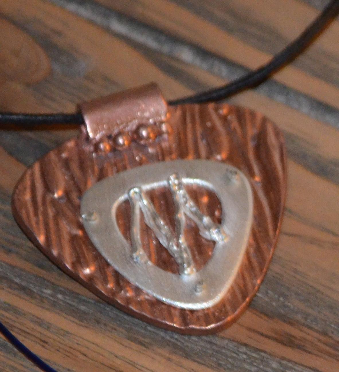 Pendentif pâtes de métal argent et cuivre ACS2 Art Clay Niveau 2 BijouSchool Antibes